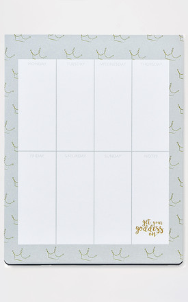 Get Your Goddess on Grey Weekly Planner by A Gift From The Gods