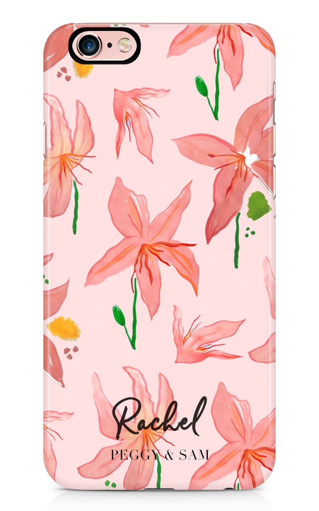 Personalised Phone Case in Summer Lily Print by Peggy and Sam