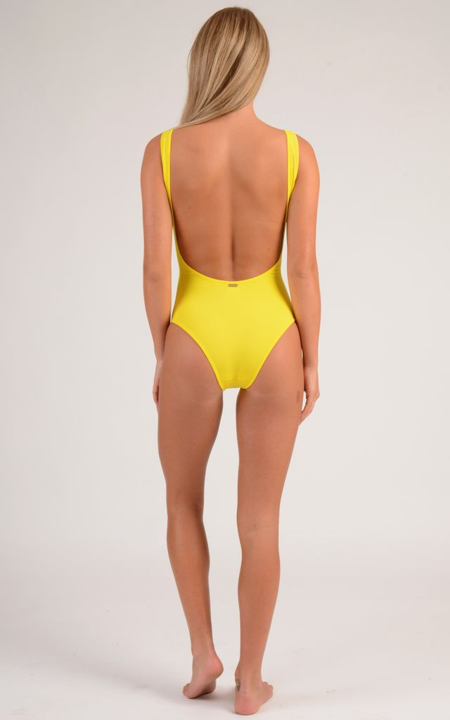 Miami Mesh One Piece Swimsuit in Sunshine Yellow by sHe LoveSwim