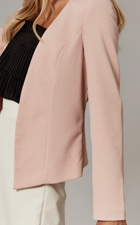 Collarless Blazer in Pink by ONLY