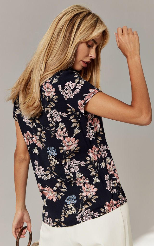 Night Sky Floral Print Top by ONLY