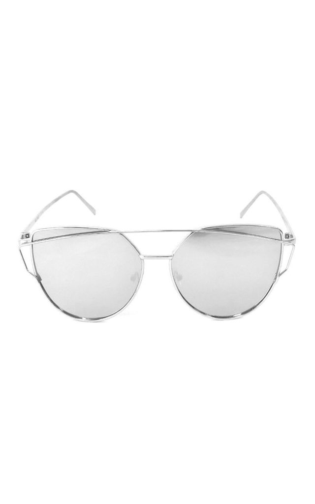 PACE Mirrored Silver Frame Aviator Sunglasses by ShaniceEmily
