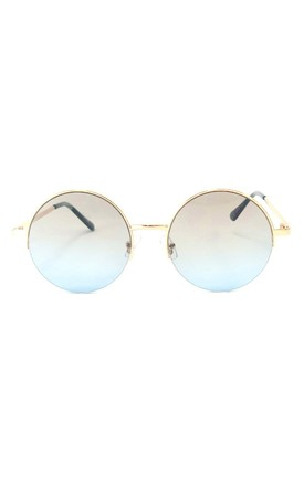QUINN Gold Frame Round Sunglasses by ShaniceEmily