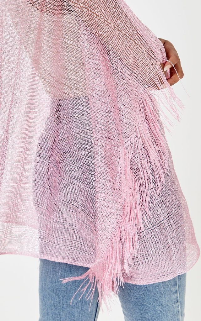 AMBER Tassle Sleeve Kimono Pink by SORT.co