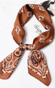 Lou Paisley Festival Print Bandanna Scarf Neckerchief Headscarf by Ajouter Store