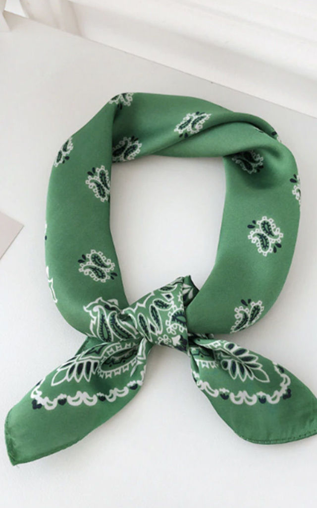 Vienna Paisley Print Bandanna Scarf Neckerchief Headscarf by Ajouter Store
