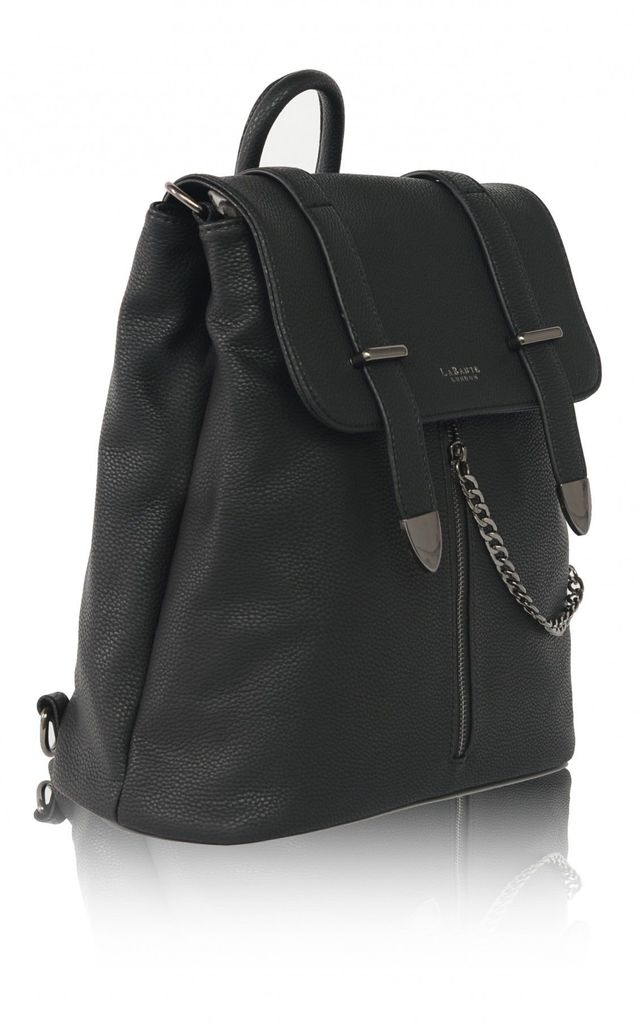 'Agnes' Vegan Leather Backpack in Black by Always Chic