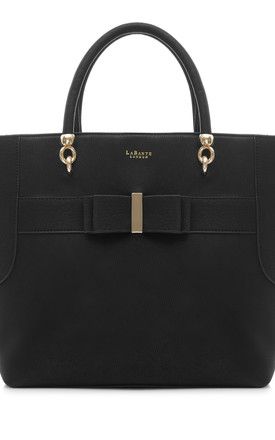 Ally Black Vegan Leather Tote Bag by Always Chic