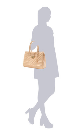 Nude Vegan Leather Tote Shoulder Bag by Always Chic