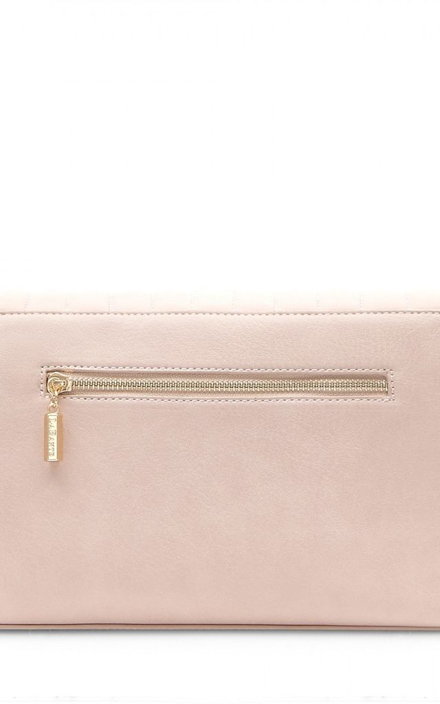 Nude Vegan Leather Cross Body Bag With Gold Strap by Always Chic