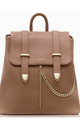 Luxury Faux Leather Laptop Backpack in Brown by Always Chic