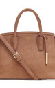 'Grant' Faux Leather Carry-all Shoulder Bag in Brown by Always Chic