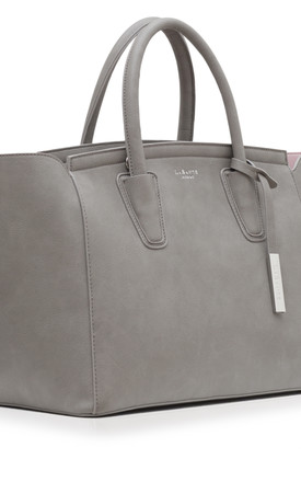 'Grant' Faux Leather Carry-all Shoulder Bag in Grey by Always Chic