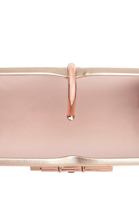 Allegro Vegan Rose Gold Clutch Evening Bag by Always Chic