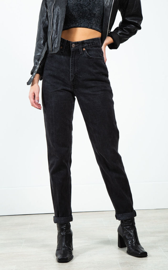 Vintage 80s Levi's Mom Jeans Black / 0197 by Avelinas Vintage