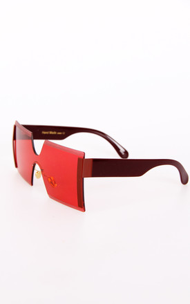 Red Square Aviator Sunglasses by Urban Mist