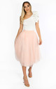 Midi Tulle Skirt In Light Pink by Dressed In Lucy