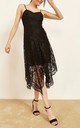Amelia Strappy Handkerchief Lace Dress in Black by Mimi + Alice