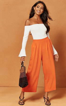 Morgan Palazzo Trouser In Orange by Charlie Holiday Product photo