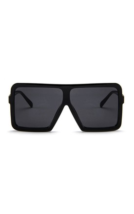 Omoye Oversized Square Black Sunglasses by Don't Be Shady