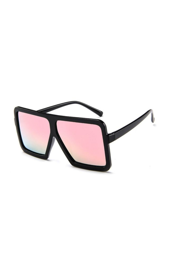 Omoye Oversized Square Pink Sunglasses by Don't Be Shady