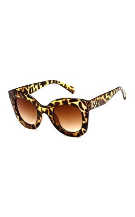 Emma Oversized Leopard Sunglasses by Don't Be Shady