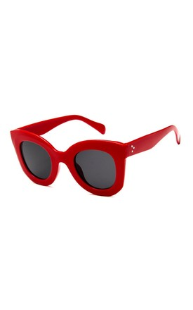 Emma Oversized Red Sunglasses by Don't Be Shady