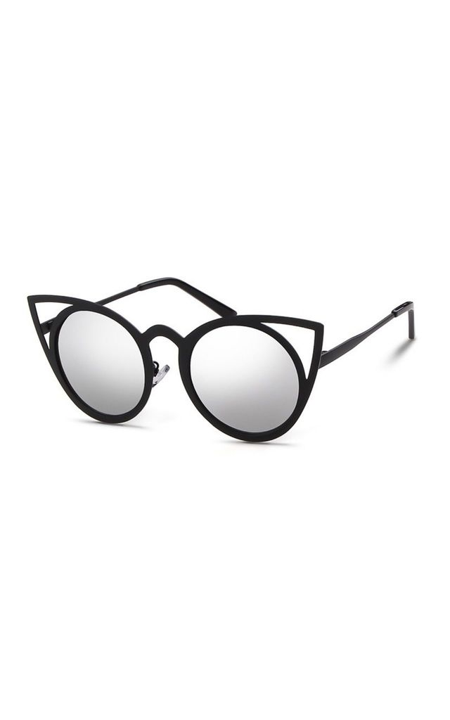 Katie Large Cat Eye Silver Sunglasses by Don't Be Shady