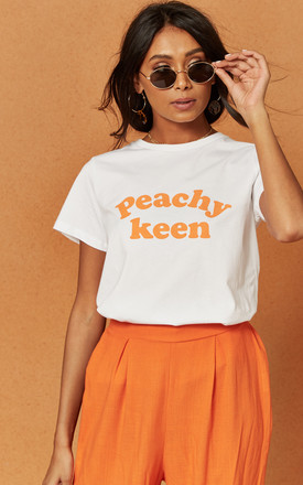 Peachy Keen White Tee by Charlie Holiday Product photo