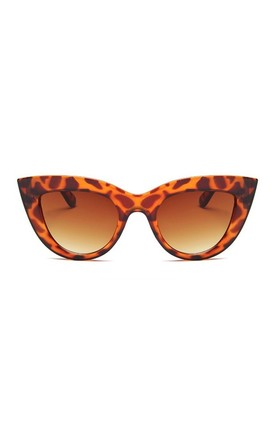 Kitty Cat Eye Leopard Sunglasses by Don't Be Shady