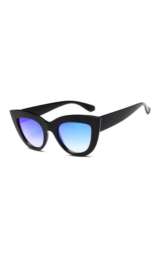 Kitty Cat Eye Black-Blue Sunglasses by Don't Be Shady