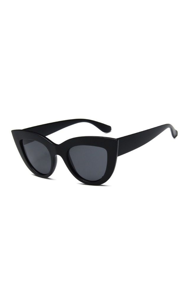 Kitty Cat Eye Black Matte Sunglasses by Don't Be Shady