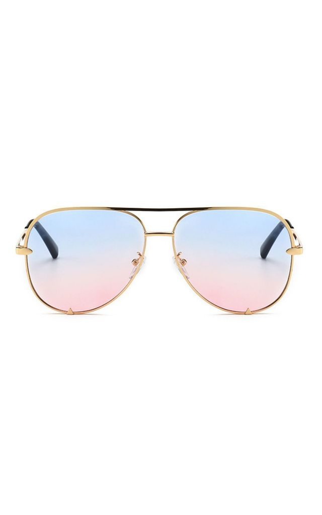 Rachael Aviator Blue-Pink Sunglasses by Don't Be Shady