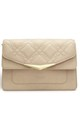 Faux Leather Cross Body Bag in Nude by Always Chic