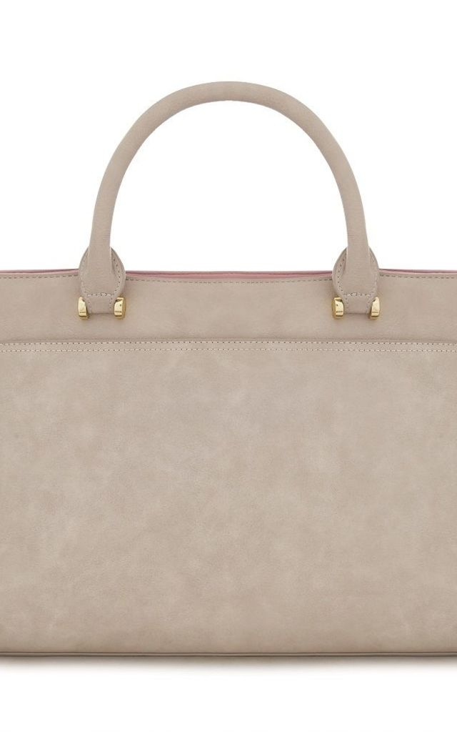 'Dawson' Faux Suede Laptop Carry All Bag in Taupe by Always Chic