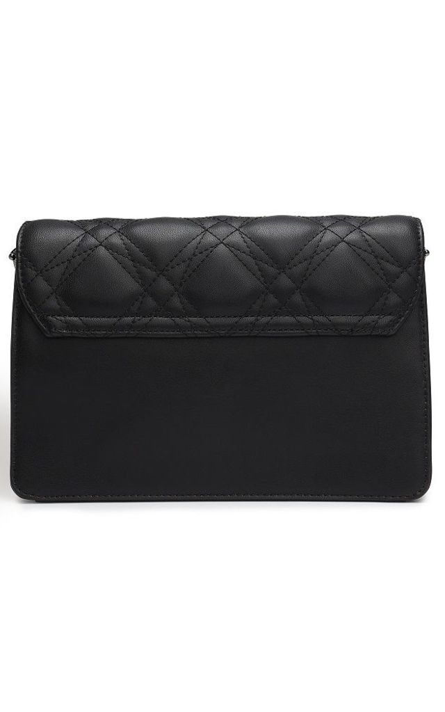 Faux Leather Cross Body Bag in Black by Always Chic