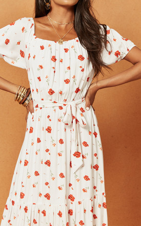 Valentine Maxi Dress in White Floral by Charlie Holiday