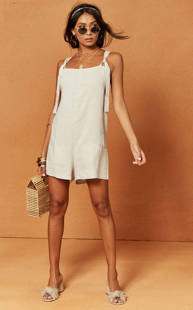 St George Playsuit in Grey by Charlie Holiday