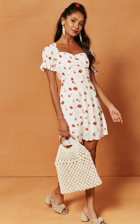 Valentine Mini Dress In White Floral by Charlie Holiday Product photo