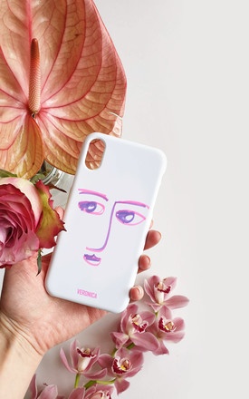 Abstract line art cheeky face personalised case by Rianna Phillips