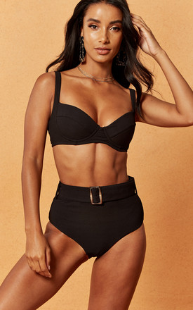 Expedition Rib Bikini Bra In Black by Charlie Holiday Product photo