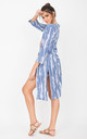 Summer Cover Up Crinkle Kimono Kaftan Tie Dye Blue by likemary
