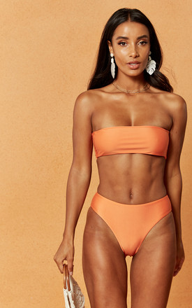Morgan Bandeau Bikini Top In Orange by Charlie Holiday Product photo