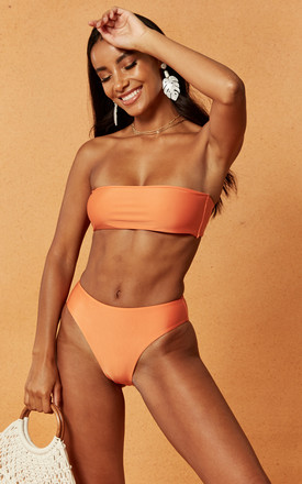 Morgan High Cut Bikini Bottom In Orange by Charlie Holiday Product photo