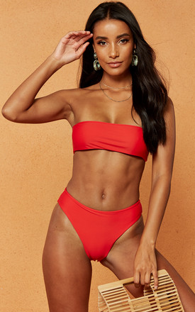 Harry High Cut Bikini Brief In Red by Charlie Holiday Product photo