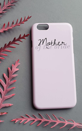 Mother of the bride pink phone case by Rianna Phillips