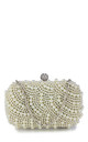 Pearl evening wedding prom clutch bag by Hello Handbag