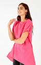 AUGUSTA - Linen Drop Pocket Hi Low Pink Tunic by Blue Vanilla