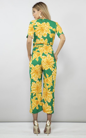 ATLANTIS JUMPSUIT IN YELLOW ON GREEN BLOOM by Dancing Leopard