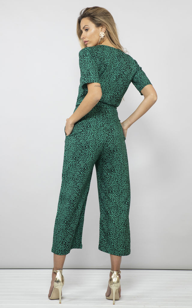 ATLANTIS JUMPSUIT IN SMALL GREEN LEOPARD image